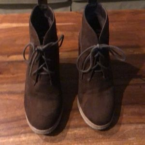 Chocolate booties by American Outfitters